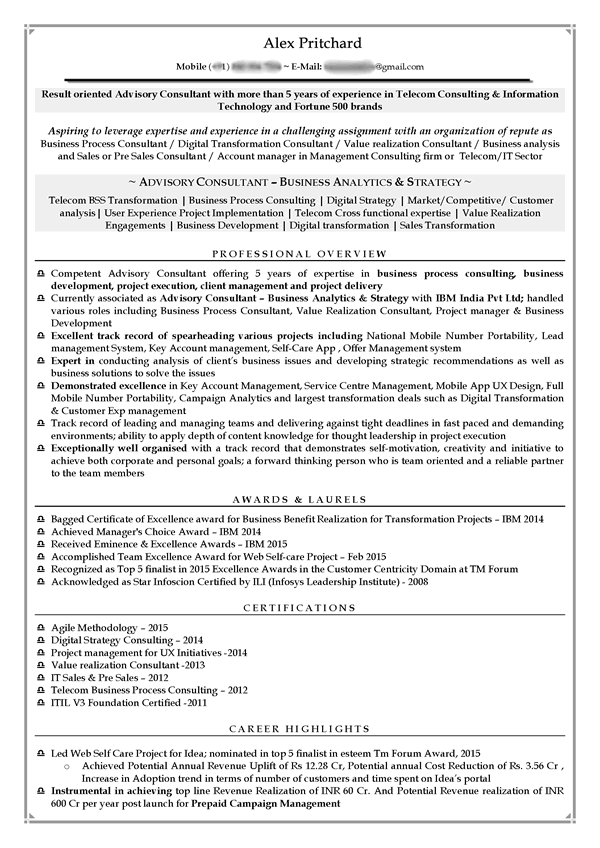 consulting resume 11 red - It Consultant Resume
