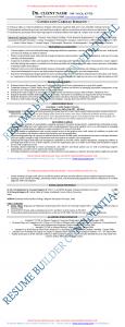 Resume Sample for Senior Profile