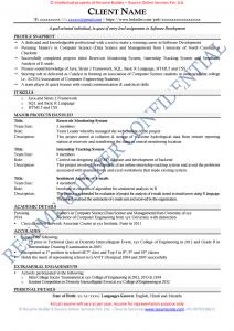 Resume Builder CV Sample
