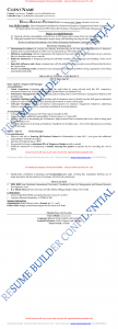 Sample Resume of Intermediate Level