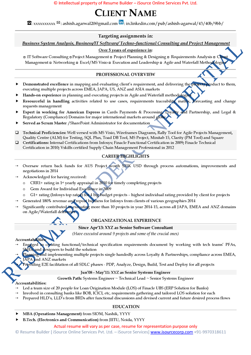 Resume Sample Resume Kpo Jobs free resume samples cv template download sample of intermediate level