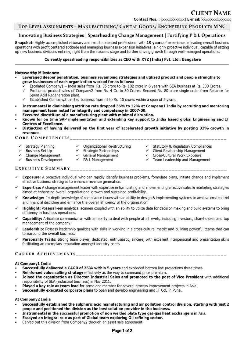 Free Executive Leadership resumes CV samples, visual resumes formats