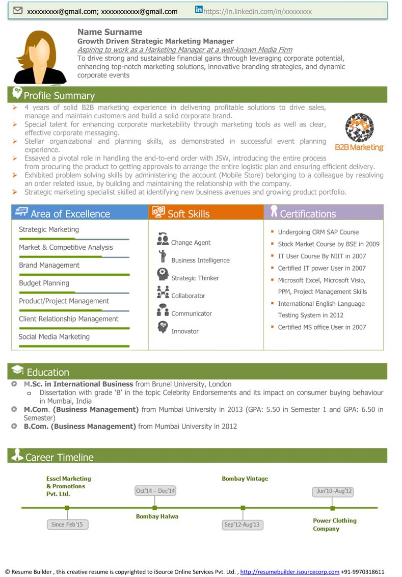 Sample Visual Resume