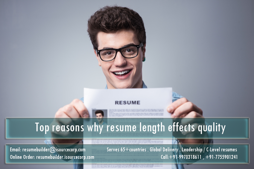 Top reasons why resume length effects quality - Resume Builder: Executive Resume Writing, Cover Letter, LinkedIn profile updation, SOP, LOR, RPL, Visual Resume, Statement of Purpose, Recognition of Prior Learning, Letter of Recommendation, US, UK, Europe,