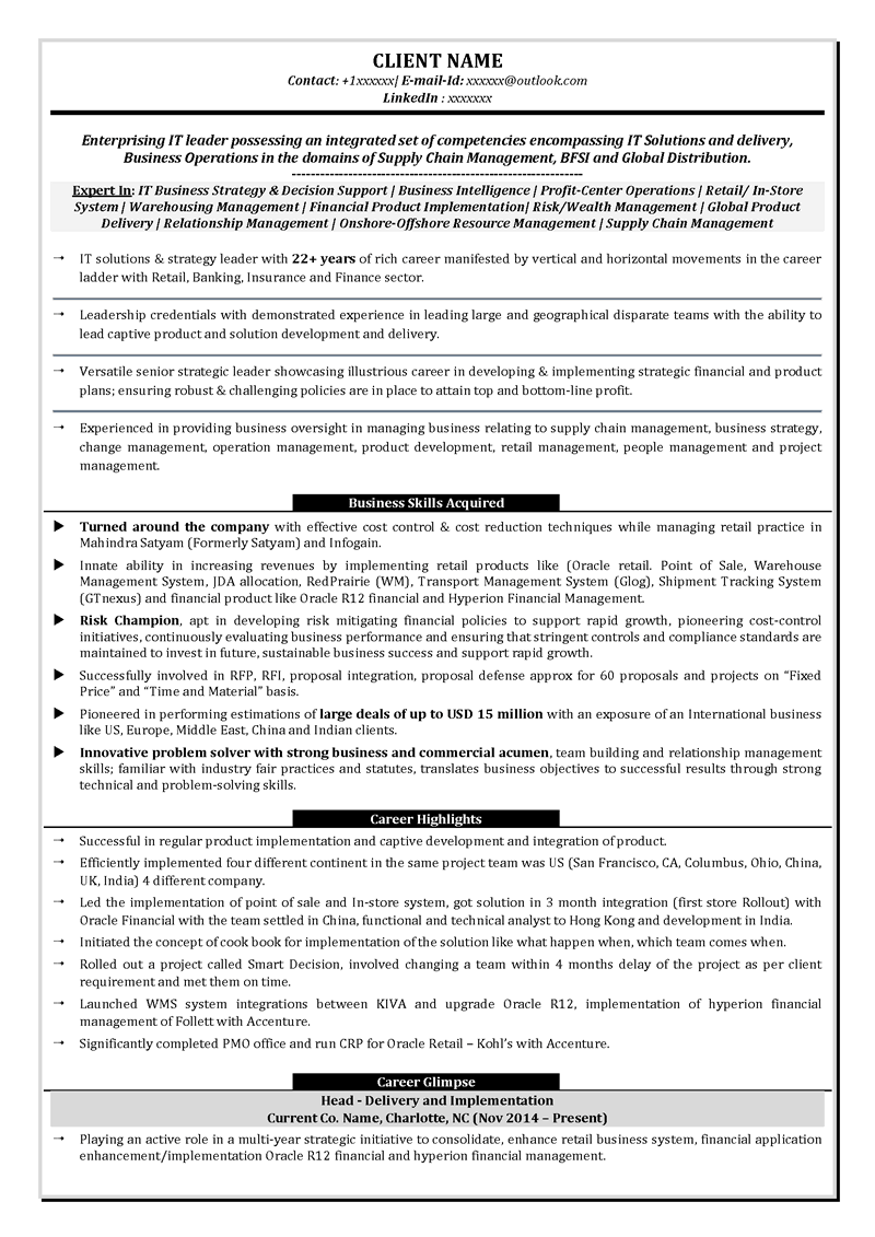leadership sr management c level c suite resume writing ceo