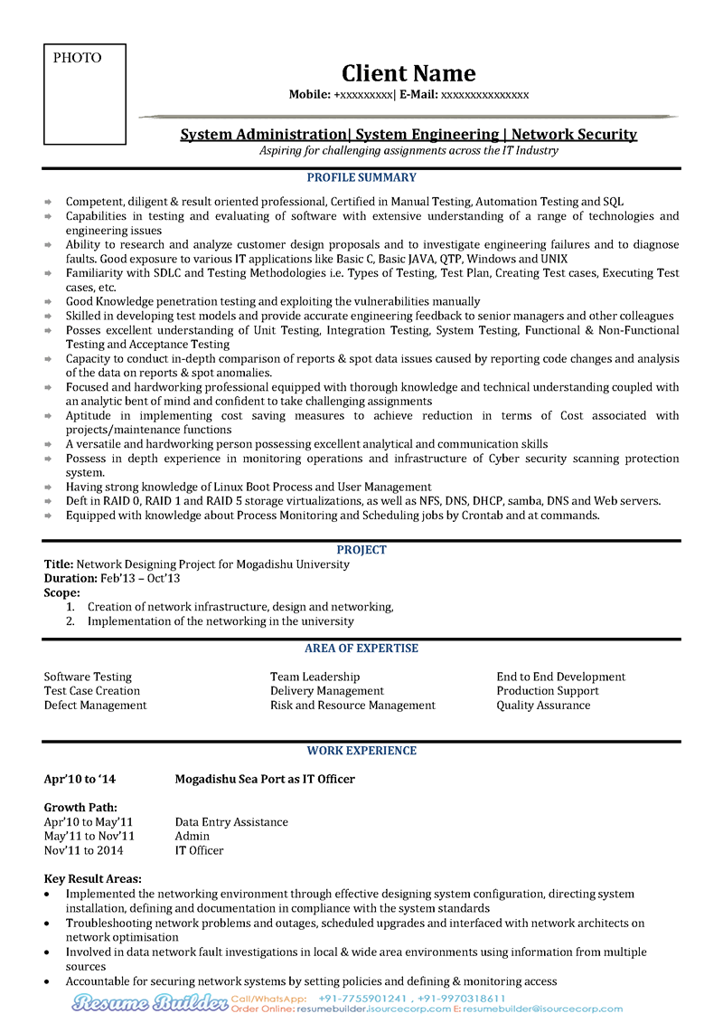 free resume example free cv sample for it free resume download free it - It Sample Resumes