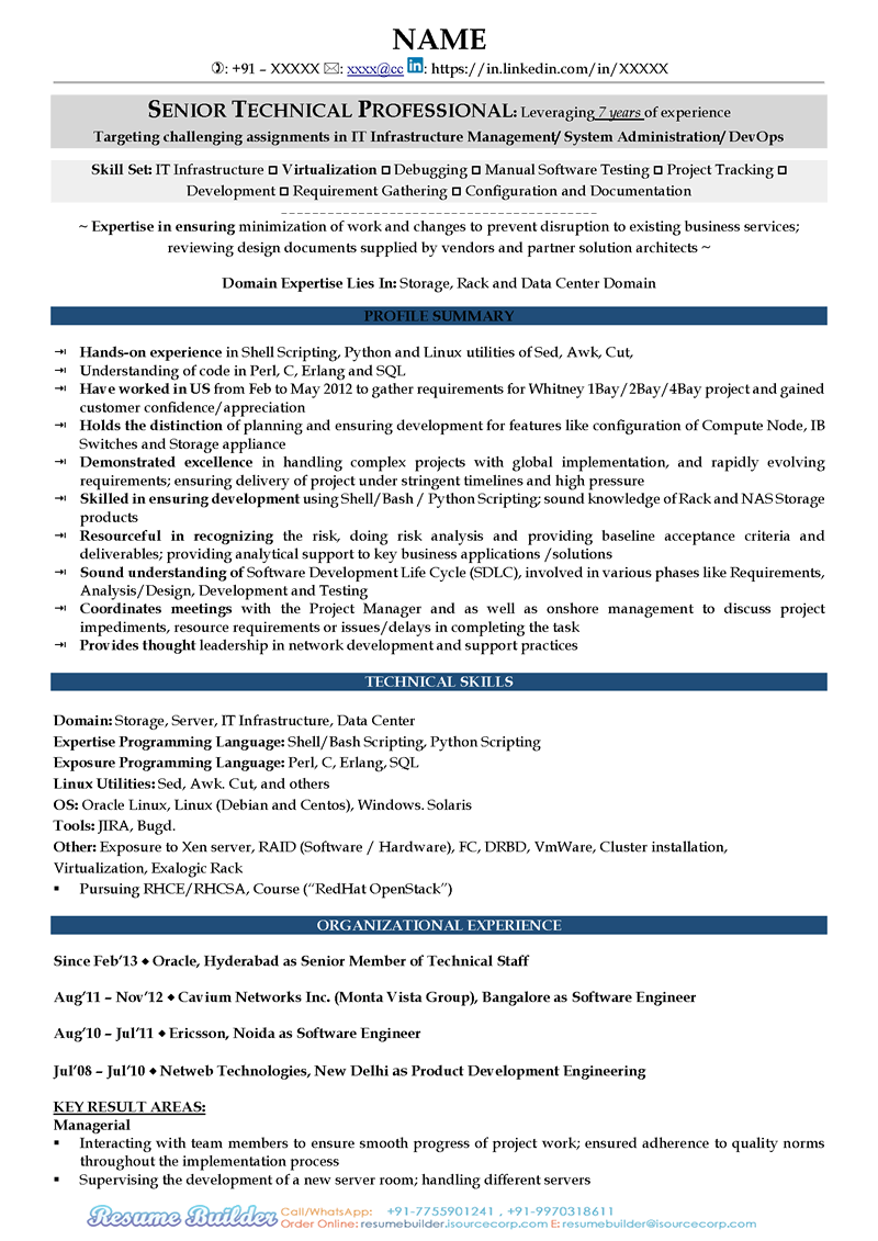 Resume for visa interview